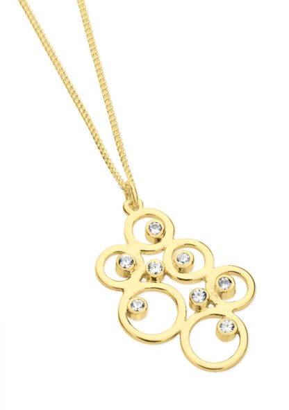 Gold bubbles on chain