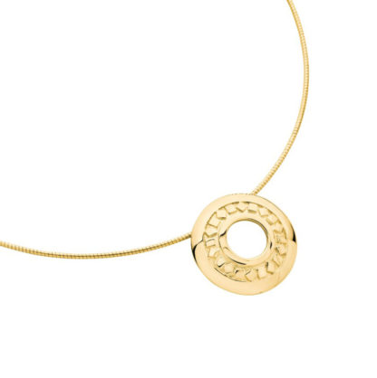 Karen Duncan Jewellery Glimps Holm Gold Pendant on Wire