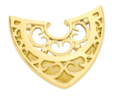 Gold Shield - Karen Duncan Jewellery, Orkney