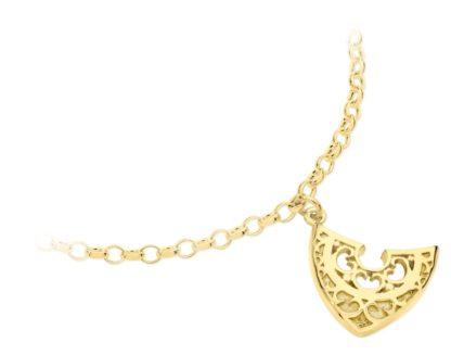Gold Shield - Karen Duncan Jewellery, Orkney