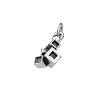 Karen Duncan Jewellery - Blocks Blackened Charm