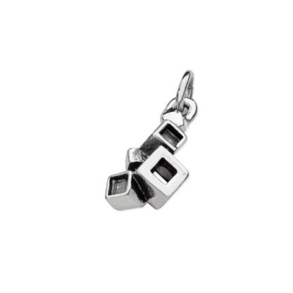 Karen Duncan Jewellery - Blocks Blackened Charm