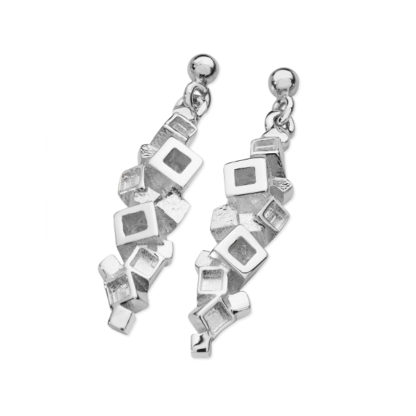 Karen Duncan Jewellery - Blocks Plain Large Drop Earrings