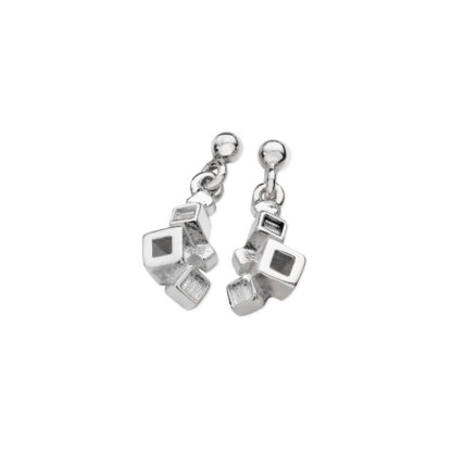 Karen Duncan Jewellery - Blocks Plain Small Drop Earrings