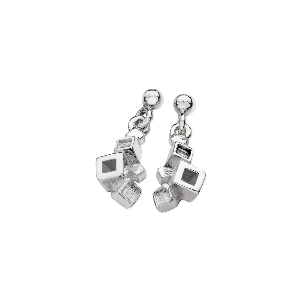 Karen Duncan Jewellery - Blocks Plain Small Drop Earrings