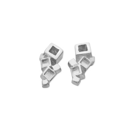 Karen Duncan Jewellery - Blocks Plain Stud Earrings