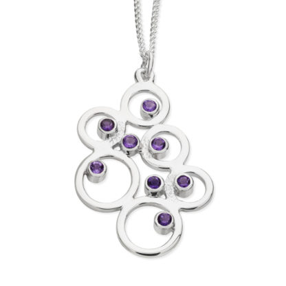 Karen Duncan Jewellery - Bubbles Large Amethyst Pendant on Chain