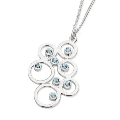 Karen Duncan Jewellery - Bubbles Large Blue Topaz Pendant on Chain