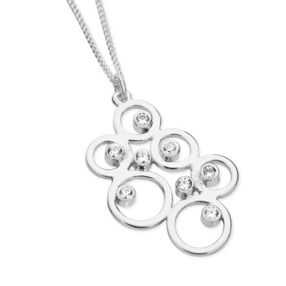 Karen Duncan Jewellery - Bubbles Large Cubic Zirconia Pendant on Chain