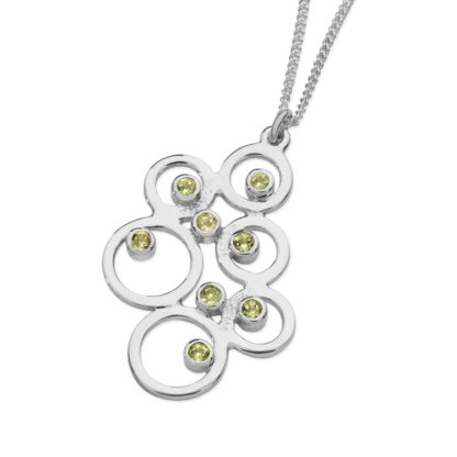 Karen Duncan Jewellery - Bubbles Large Peridot Pendant on Chain