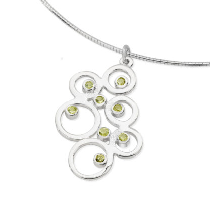 Karen Duncan Jewellery - Bubbles Large Peridot Pendant on Wire