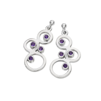 Karen Duncan Jewellery - Bubbles Amethyst Large Drop Earrings