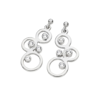 Karen Duncan Jewellery - Bubbles Cubic Zirconia Large Drop Earrings