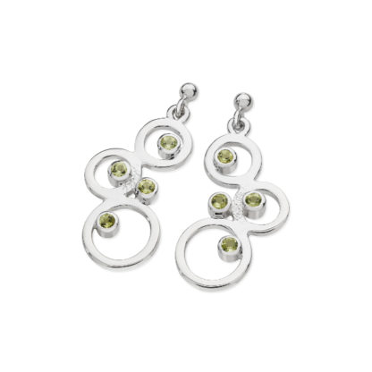 Karen Duncan Jewellery - Bubbles Peridot Large Drop Earrings