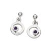 Karen Duncan Jewellery Bubbles Large Silver Amethyst Drop Earrings