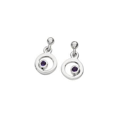 Karen Duncan Jewellery - Bubbles Amethyst Small Drop Earrings