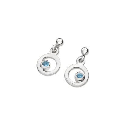 Karen Duncan Jewellery - Bubbles Blue Topaz Small Drop Earrings