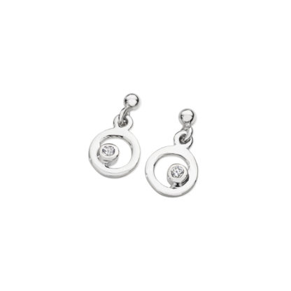 Karen Duncan Jewellery - Bubbles Cubic Zirconia Small Drop Earrings
