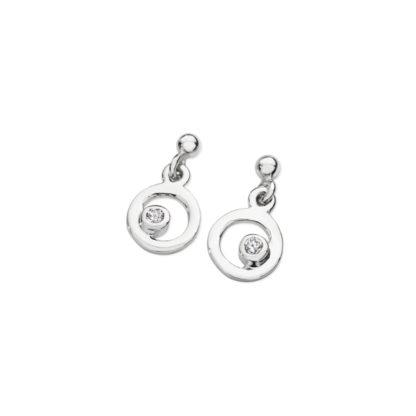 Karen Duncan Jewellery - Bubbles Cubic Zirconia Small Drop Earrings