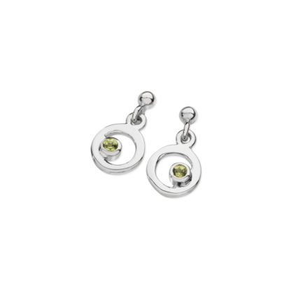 Karen Duncan Jewellery - Bubbles Peridot Small Drop Earrings