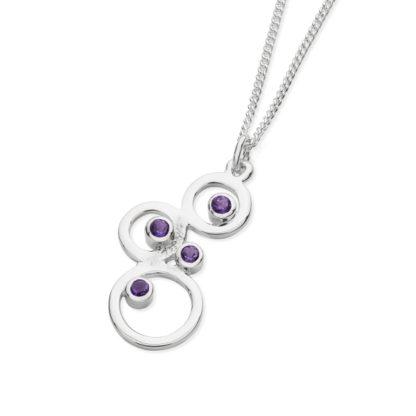 Karen Duncan Jewellery - Bubbles Small Amethyst Pendant on Chain