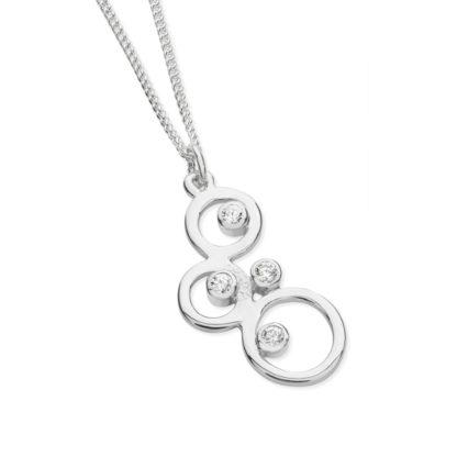 Karen Duncan Jewellery - Bubbles Small Cubic Zirconia Pendant on Chain