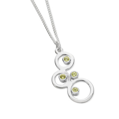 Karen Duncan Jewellery - Bubbles Small Peridot Pendant on Chain