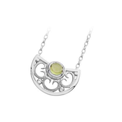 Karen Duncan Jewellery - Lamb Holm Half Round Necklet With Peridot