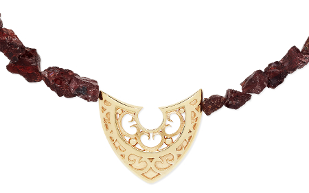 Karen Duncan Jewellery Shield on Garnets