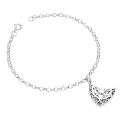 Karen Duncan Jewellery - Shield Charm Bracelet