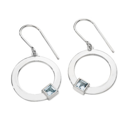 Karen Duncan Jewellery - Solar Blue Topaz Drop Earrings on Hook Wires