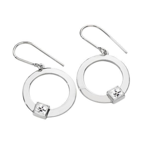 Karen Duncan Jewellery - CZ Drop Earrings on Hook Wires