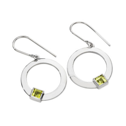 Karen Duncan Jewellery - Solar Peridot Drop Earrings on Hook Wires
