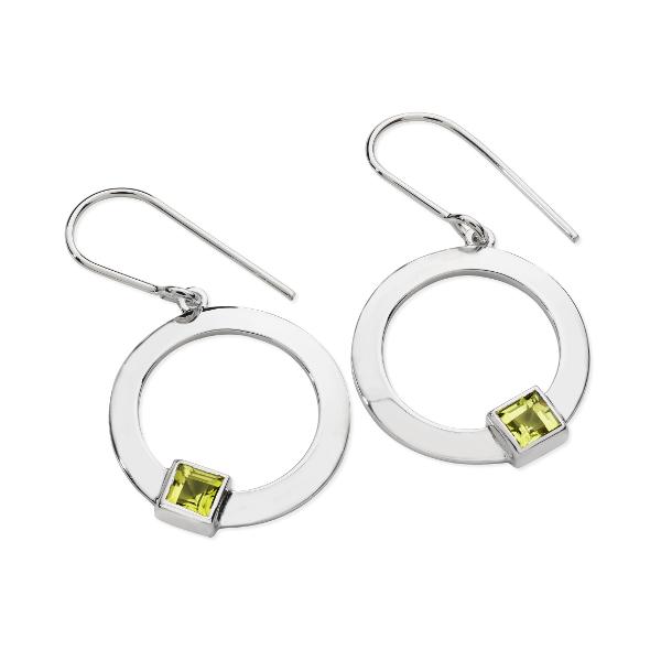 Karen Duncan Jewellery - Solar Peridot Drop Earrings on Hook Wires