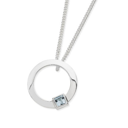 Karen Duncan Jewellery - Solar Small Blue Topaz Pendant on Chain