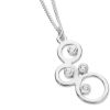 Karen Duncan Jewellery Bubbles Small Silver Cubic Zirconia Pendant on Chain