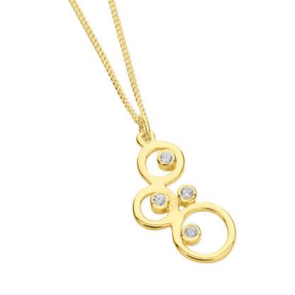 Karen Duncan Jewellery - Bubbles small gold pendant
