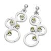 Karen Duncan Jewellery Bubbles Large Silver Peridot Drop Earrings