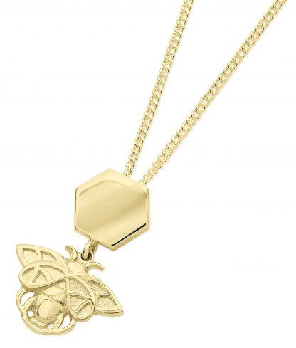 Karen Duncan Jewellery - Bee and Honeycomb Pendant