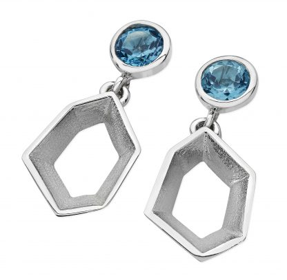 Karen Duncan Jewellery - Ebb Blue Topaz Large Drop Earrings