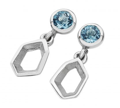 Karen Duncan Jewellery - Ebb Blue Topaz Small Drop Earrings