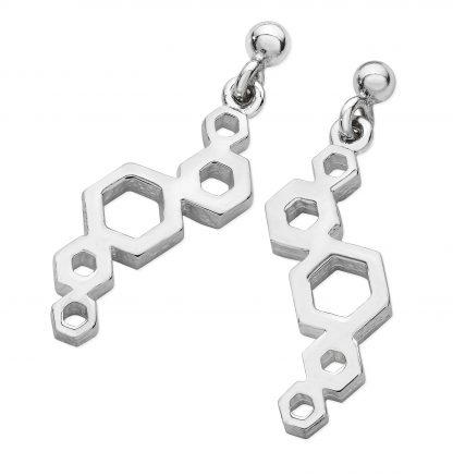 Karen Duncan Jewellery - Honeycomb Long Drop Earrings