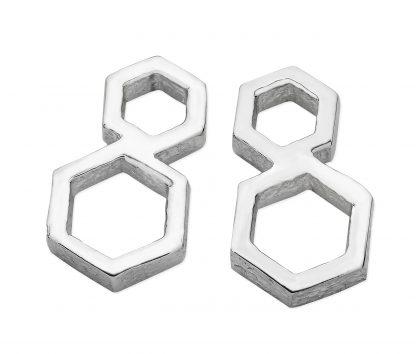 Karen Duncan Jewellery - Honeycomb Medium Stud Earrings