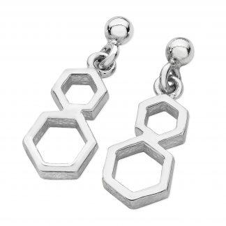 Karen Duncan Jewellery - Honeycomb Medium Drop Earrings