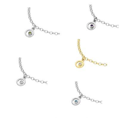 Karen Duncan Jewellery - Bubbles charm Bracelet group