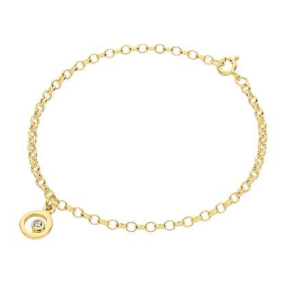 Karen Duncan Jewellery - Bubbles 9ct Gold Charm Bracelet