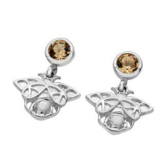 Karen Duncan Jewellery - Bee Citrine Drop Earrings