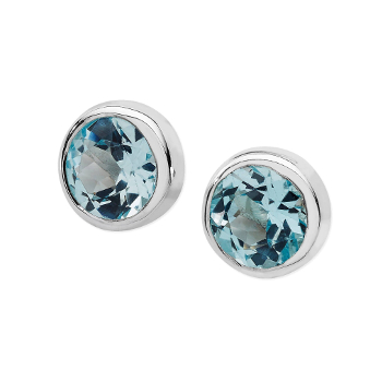 Karen Duncan Jewellery - Ebb Blue Topaz Stud Earrings