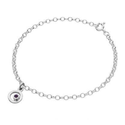 Karen Duncan Jewellery - Bubbles Charm AmethystBracelet