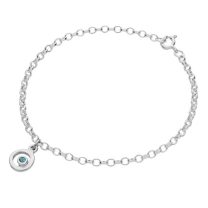 Karen Duncan Jewellery - Bubbles Charm Blue Topaz Bracelet